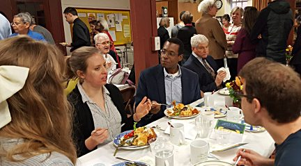 Photograph of the celebratory luncheon for Saint Peter's 175th anniversary