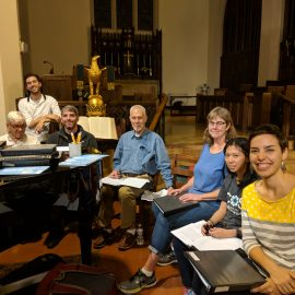 Photo of the Saint Peter's choir at rehearsal